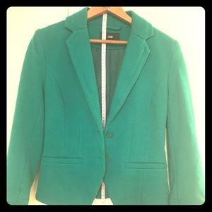 H&M Green 3/4 Sleeve Blazer